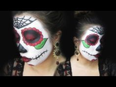 Sugar Skull, Dia De Los Muertos, Day of The Dead Tutorial