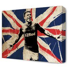 The Blue Room — Waggy - Martyn Waghorn. #RFC Glasgow Rangers www.blueroomart.co.uk
