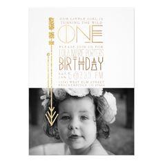 Wild One | First Birthday Party Invite Photo