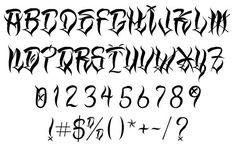"""Результат пошуку зображень за запитом """"gangsta lettering"""""""