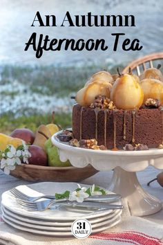 An Autumn Afternoon Tea Party is a perfect time to treat yourself, friends, and family to a beautiful respite during the fall busy season. Pumpkin Tarts, Pumpkin Mousse, Pumpkin Pudding, Afternoon Tea Recipes, Afternoon Tea Parties, Vanilla Bean Scones, Wine Poached Pears, Autumn Tea, Tea Sandwiches