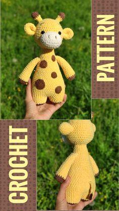CROCHET GIRAFFE PATTERN - Amigurumi Plush Giraffe pattern - Crochet animal toy Pdf tutorial