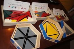 DIY - wooden constructive triangles - with boxes!