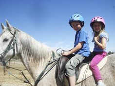 #ActionRider #endurance #horse Kipling, taking care of his grandkids - Fin and Zoe, ages 9 and 5. Photo submitted by Ronda Eden.