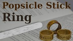 In this project, I made a few rings out of Popsicle sticks. Procedure is very simple. All you need is a few popsicle sticks, wood burning tool, varnish and the glue. Thanks for watching!