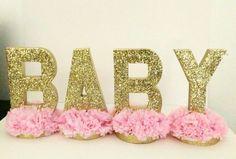 Glitter letters centerpiece glam decor by InspirationsByAlex