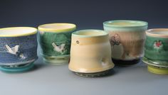 """""""Yunomi"""" tea bowls for the Akar Gallery show, Mar. 2012 ( from the studio of Lynn Smiser Bowers)"""