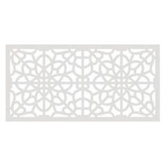 With a variety of rich and elegant designs, TuffBilt Decorative Screen Panels can enhance either an indoor or an outdoor space. Thicker than standard lattice panels, the 2 ft. x 4 ft. screens allow for Decorative Screen Panels, Vinyl Railing, Paneling, Deck Skirting, White Vinyl, Decorative Screens, Gazebo Construction, Fence Panels, Decks And Porches