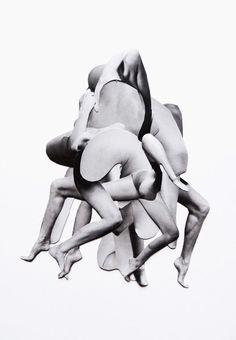 Dennis Busch. Body collage, much like my fashion collages
