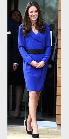 | Kate Middleton in Cobalt Blue |