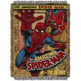 Found it at Wayfair - Entertainment Spiderman Vintage Spiderman MTL Tapestry Throw