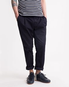 chino carrot pleated tapered