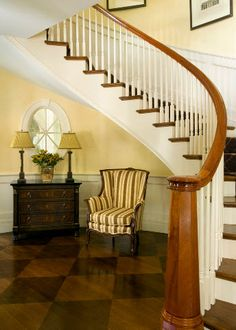A checkered hardwood floor is a sophisticated addition to any home.