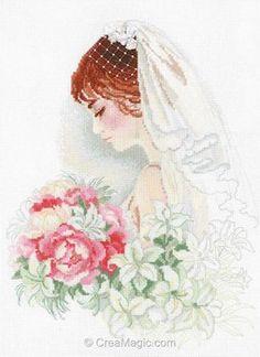 La jeune mariée point de croix - Riolis