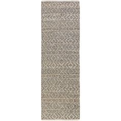 Kitchen runner - The Ingrid Rug is made by experts by merging form with function at Surya and is translated as the most relevant apparel and home decor trends into fashion-forward products across a range of styles and price points. 35% Viscose,35% Wool,30% Silk Backing: N/A Hand Woven No Pile Loop Accents Color: Black, Light Grey, Grey Made in India