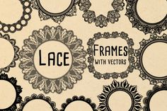 White Lace Frames with Lace Vectors by PaperElement on Creative Market
