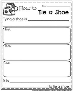 Back to School Writing Prompts - Informative How to Tie a Shoe
