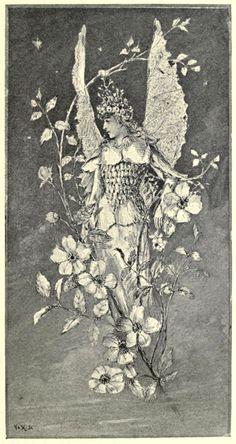 John Bell ~ 1894 ~ Spirit of the Flowers ~ Phantastes: A Faerie Romance by George MacDonald ~