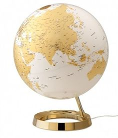 globe terrestre lumineux design blanc noir sur socle noir globes pinterest globes et design. Black Bedroom Furniture Sets. Home Design Ideas