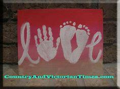 mom mother mothers day card footprint handprints craft art gift love