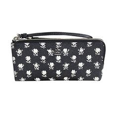 Coach Printed Crossgrain Leather Zippy Wallet 52974 Black Parchment Badlands * To view further for this item, visit the image link.