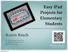 Easy iPad Projects for Elementary Students via @karlyb