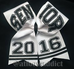 Cheer Bow  Senior 2016 by AtlBowAddict on Etsy