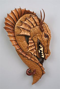 Dragon Intarsia - Tom's Woodworking Shed