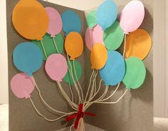 Birthday card with pop-up balloons