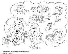 Resultado de imagen para dibujo contaminación del aire