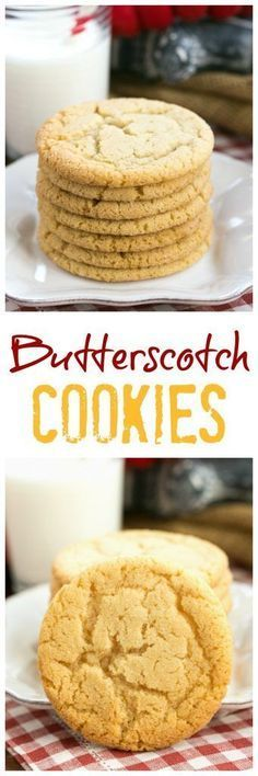 Butterscotch Cookies | a soft, chewy family favorite @lizzydo