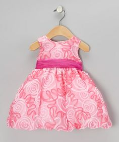 Take a look at this Fuchsia Ribbon Dress - Infant, Toddler & Girls by Sweá Pea & Lilli on #zulily today!