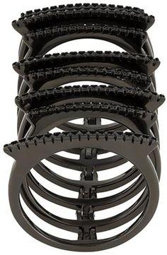 Federica Tosi embellished stack ring, Women's, black