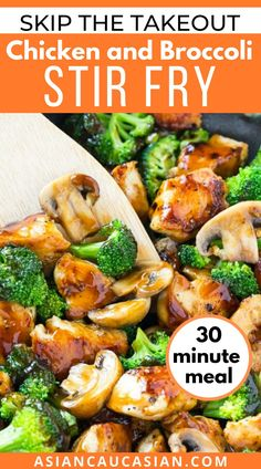 Here's a healthy, 30-minute Chicken and Broccoli Stir Fry recipe that won't take up all of your precious time during this frantic week of cooking! It's quick, healthy, and the absolute best chicken stir fry! Chicken Broccoli Stir Fry, Chicken And Vegetables, Easy Chicken Recipes, Asian Recipes, Ethnic Recipes, Quick Weeknight Meals, Easy Meals, Stir Fry Ingredients, Low Sodium Chicken Broth
