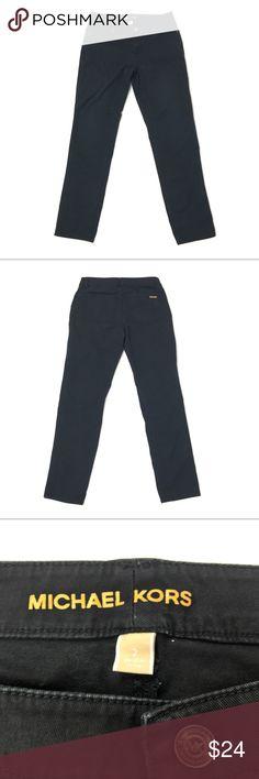 Michael Kors Straight Leg Skinny Jeans Size 4 Michael Kors black straight leg jeans mid rise stretch size 2  Inseam: 28  Length: 38  Flat across waist: 14in  Rise: 9 Michael Kors Jeans Skinny