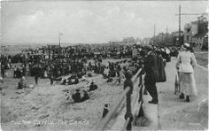 The sands Seaton 1920 North East England, Old Pictures, Seaside, Past, Dolores Park, Street View, Black And White, Sands, History