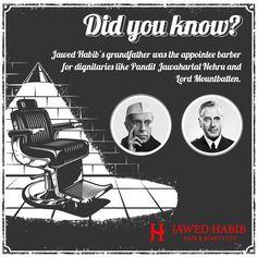 Evidently, hair styling runs in #JawedHabib's blood!  #JawedHabib #hair #haircare #hairstyling #hairexpert