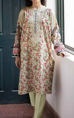Lawn Suits, Cotton Suit, Famous Brands, Green Cotton, Sapphire, Dresses With Sleeves, Long Sleeve, Clothes, Fashion