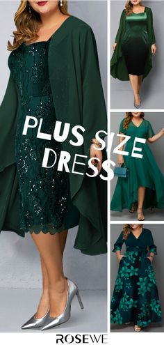 Plus Size And Chiffon Cardigan Sequin Embellished Dress - Moda Femminile Chiffon Cardigan, Dress With Cardigan, The Dress, Chiffon Dress, Xl Mode, Mode Plus, Fall Dresses, Evening Dresses, Cool Outfits