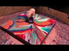 Fluid Painting on a New Level!! Acrylic Pour Painting using a Spin Table?? You gotta see this one!! - YouTube