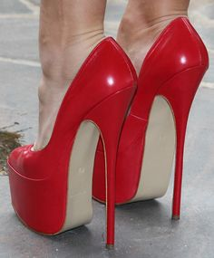 Sexy Stilettos for men & women in small & large sizes. Buy sexy shoes here. Super High Heels, Red High Heels, Platform High Heels, High Heel Boots, Womens High Heels, Red Platform, Stilettos, Pumps Heels, Stiletto Heels