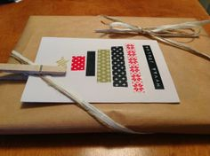 Christmas cards and some washi-tape ideas. Washi Tape, Christmas Cards, Gift Wrapping, Scrapbook, Lettering, Paper, Crafting, Yard, Ideas
