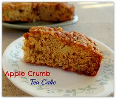 Apple Crumb Tea Cake {A Healthy, Fresh,  Apple Cake Recipe}
