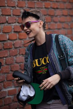 Girl o' the moment Cara Delevingne showing us why and how #MFW