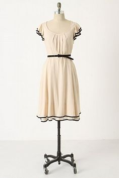 Time Gone By Dress: Maeve's vintage-inspired frock: circle skirt, flutter sleeves and silky trim.