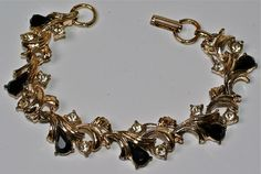 Black Rhinestone Bracelet Vintage