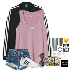 """""""~ootd~"""" by taybug2147 ❤ liked on Polyvore featuring adidas Originals, Gap, Levi's, adidas, Vera Bradley, Ray-Ban, Belk Silverworks and River Island"""