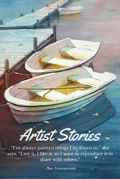 Boat Painting - Twos Company by Sue Zimmermann Watercolor Sea, Watercolor Paintings, Watercolours, Louisiana Art, Boat Art, Boat Painting, Used Boats, Boat Design, Local Artists