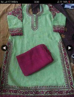 Designer Punjabi Suits, Punjabi Salwar Suits, Indian Designer Wear, Embroidery Suits Design, Embroidery Fashion, Hand Embroidery, Machine Embroidery, Ladies Suit Design, Dress Neck Designs