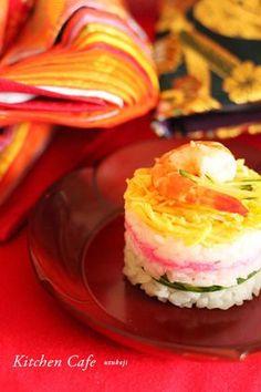 「ひな祭りに♪ちらし寿司のミルフィーユ」uzukaji | お菓子・パンのレシピや作り方【corecle*コレクル】
